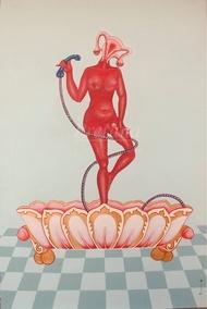 The eternal nectar by Prerana Sarkar, Fantasy Painting, Acrylic on Canvas, Chatelle color