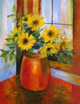 My Flowers - 13 by Swati Kale, , , Brown color