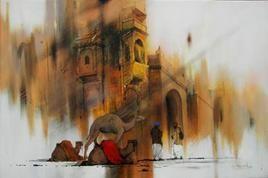 Rajasthan-2 by Devidas Dharmadhikari, , , Brown color