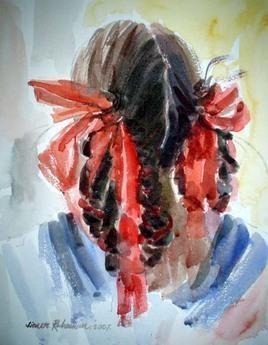 Head & Ribbon by Jiaur Rahman, , , Brown color