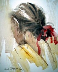 Sketch-3 by Jiaur Rahman, , , Beige color