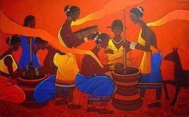 Threshing by Jiaur Rahman, , , Brown color