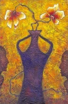Flower Vase - IV by Anirban Seth, , , Brown color