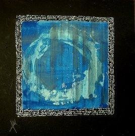 Blue Square With Text - 2 by Adil Writer, , , Black color