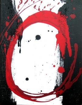 Red Chakra- 9 by Adil Writer, , , Gray color