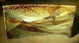 Ceramic Landscape Panel by Adil Writer, , , Brown color