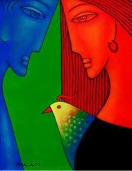 Lover 3 by Rajesh Shah, , , Red color