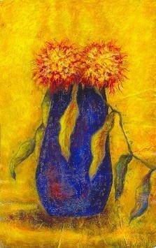 Flower Vase- X IV by Anirban Seth, , , Yellow color