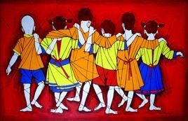 Friendship by Jiaur Rahman, , , Red color