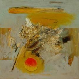 The Sun by Sachida Nagdev, , , Beige color