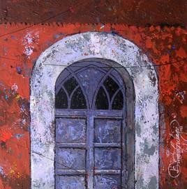 Window 1 by Suresh Gulage, , , Brown color