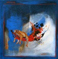 Untitled by Satish Multhalli, , , Blue color