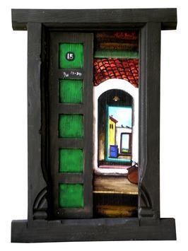 Door-9 by K R Santhanakrishnan, , , Gray color