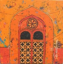 Window - 12 by Suresh Gulage, , , Orange color