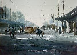 Kolkata by Jiaur Rahman, , , Gray color