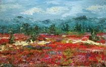 Poppy & Vetch Fields by Animesh Roy, , , Brown color
