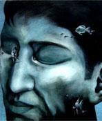 In Deep Meditation by Durba Nanda, , , Green color