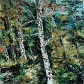 White Birches by Animesh Roy, , , Green color