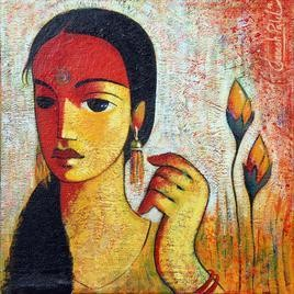 Untitled I by Ganesh Patil, , , Brown color