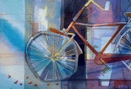 Cycle by Pradip Sengupta, , , Blue color