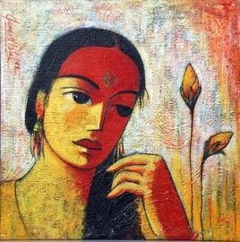 Untitled II by Ganesh Patil, , , Brown color