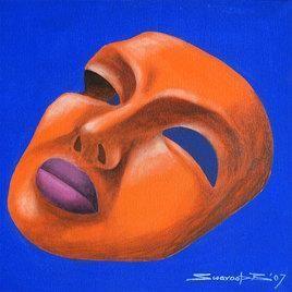 The Mask by Swaroop Biswas, , , Blue color