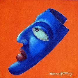 The Mask by Swaroop Biswas, , , Orange color