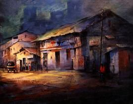 My Old Pune by Somnath Bothe, , , Brown color