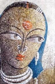 Santhali by Dhananjay Mukherjee, , , Brown color