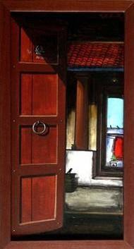 Untitled by K R Santhanakrishnan, , , Brown color