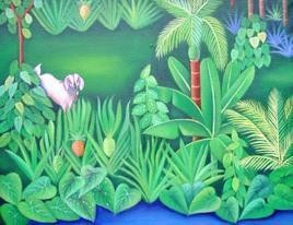 Village2 by Murali Nagapuzha, , , Green color
