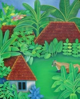 Village 1 by Murali Nagapuzha, , , Green color