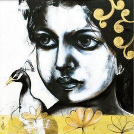 The Girl by Mithun Dutta, , , Gray color