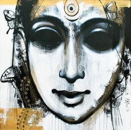 Portrait I by Mithun Dutta, , , Gray color