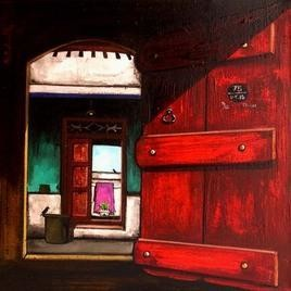 Door-15 by K R Santhanakrishnan, , , Brown color