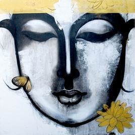 Nirvana by Mithun Dutta, , , Cyan color
