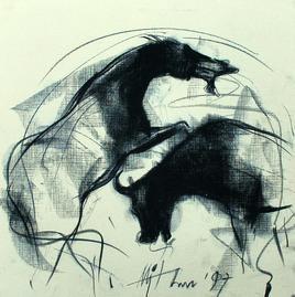 Motion VIII by Mithun Dutta, , , Beige color