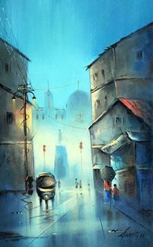 Monsoon in Pune 11 by Somnath Bothe, , , Cyan color