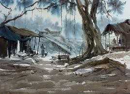 Winter by Jiaur Rahman, , , Brown color