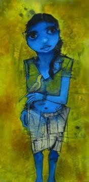 Untitled by Mukesh Salvi, , , Green color