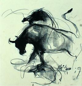 Motion III by Mithun Dutta, , , Beige color