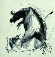 Motion V by Mithun Dutta, , , Beige color
