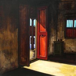 Door 1 by K R Santhanakrishnan, , , Brown color