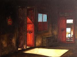 Door 2 by K R Santhanakrishnan, , , Brown color