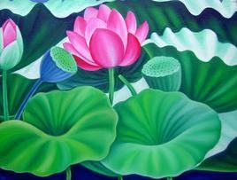Lotus by Murali Nagapuzha, , , Green color