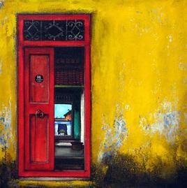 Untitled by K R Santhanakrishnan, , , Yellow color
