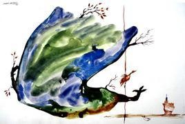 The Tree by Satish Multhalli, , , White color