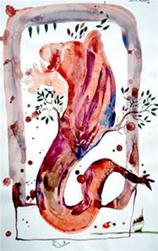 The Tree by Satish Multhalli, , , Pink color