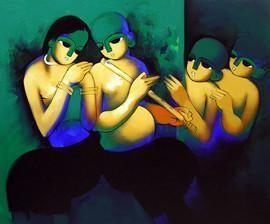 Music 4 by Arvind Kolapkar, , , Green color