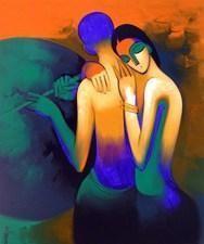 Musical Love 2 by Arvind Kolapkar, , , Blue color